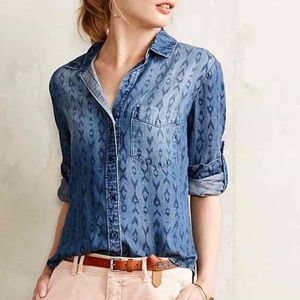 Cloth & Stone Ikat Button Front Top